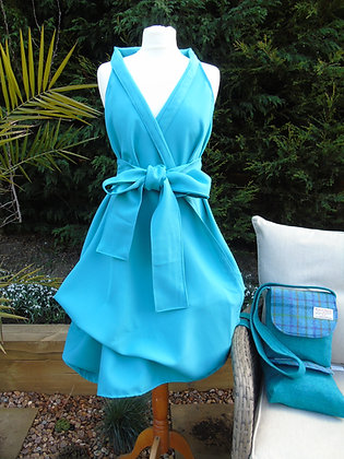 Aquamarine wrap dress