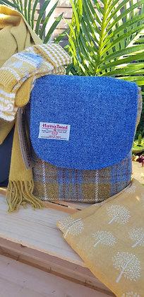 One-off handmade sholder bag, made from Harris Tweed wool