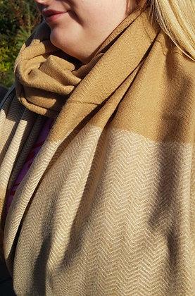 Supersoft camel cashmere blend scarf