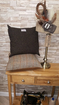 Dark Brown HarrisTweed cushion