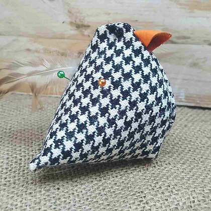 wool and leather chicken pin cushion 4