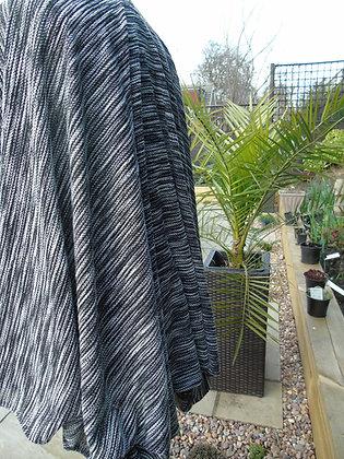Handmade grey and black marl ruffled cardigan