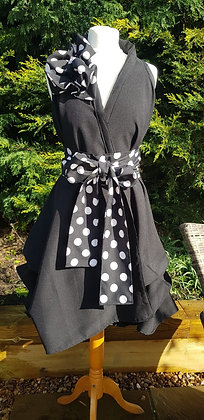 Handmade wrapdress in a gorgeous black material