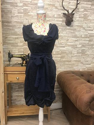 **SALE ** Navy blue lace-effect slip on dress