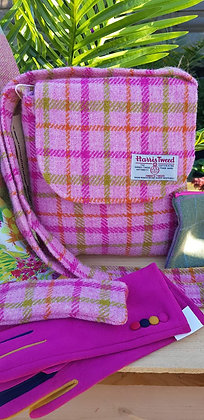 One-off handmade cross over bodybag, made from Harris Tweed wool