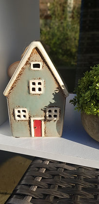 Blue grey single cottage money box