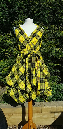 MacLeod limited edition tartan wrap dress