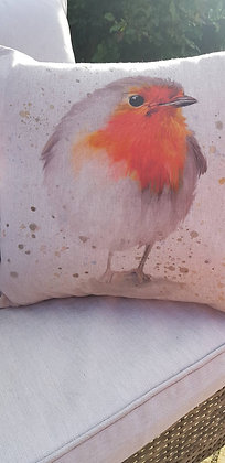 "Cute robin cushion with inner. 18""x18"""