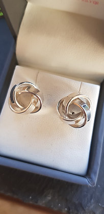 Solid sterling silver knot earrings