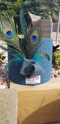 20cm Ocean Harris tweed drum with feathers