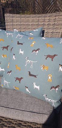 Handmade Dogcushions made from Sophie Allport canvas cotton