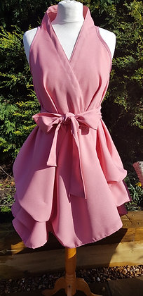 Handmade wrapdress in a gorgeous nudey-peachy pink