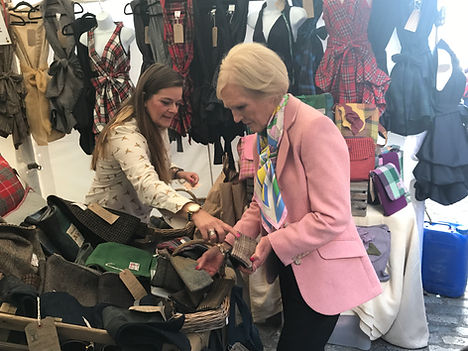 Mary Berry buying one of my handmade cases