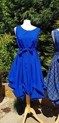 Handmade Alice dress inroyal blue.