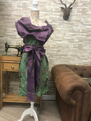 **SALE** Lightweight green liberty cotton handmade dress