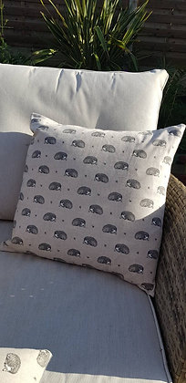 Hoggy the Hedgehog cushion with polyester inner.