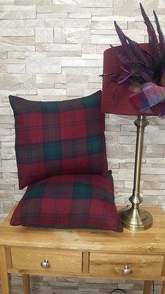 Lindsay tartan soft fine wool cushion