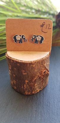 925 sterling silver elephantearrings