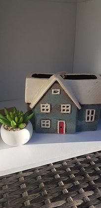 Slate blue cottageplant pot