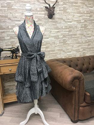 ***SALE*** Grey rose damaskwrap dress.