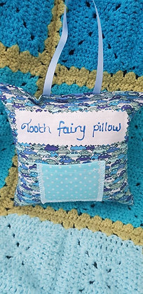 Handmade cars tooth fairy pillow with a mini front pocket
