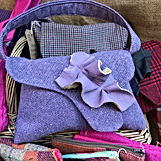 One-off handmade bags in a range fo colours and styles. All lined and internal pocket