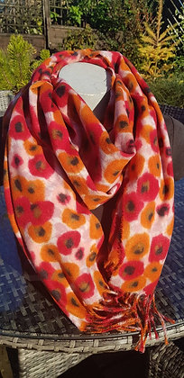 Supersoft extra large spot flower scarf