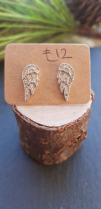 925 sterling silver angel wings earring with sterling silver butterfly backs