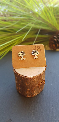 925 sterling silver tree of life earrings