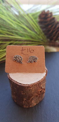 Elephant earrings full of marcasite gems