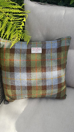 Handmade cushion made from Harris Tweed wool