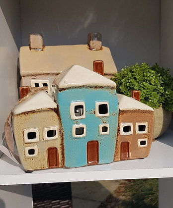 Triple nest of cottages tea light, absolutely adorable