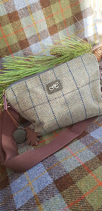 Hawkins traditional tweed seafoam herringbone. Small cross body bag