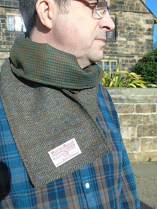 Handmade scarf made from traditional greenherringbone