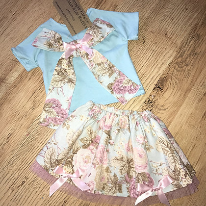 Handmade 2 piece outfit. Top and tutu
