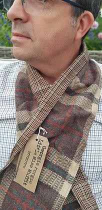 Avoca,Irish tweed 100% wool scarf, lined for extra comfort around your neck.