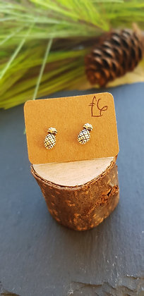 925 sterling silver pineappleple with sterling silver butterfly backs