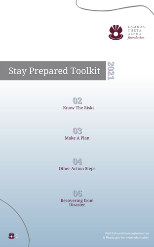 2021 Toolkit Table of Contents Page