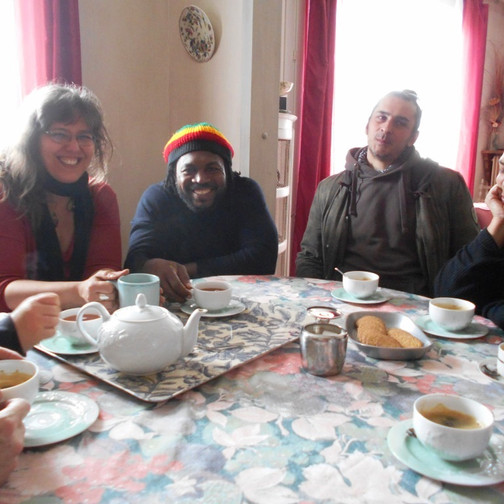 9 tea with delphine and costin