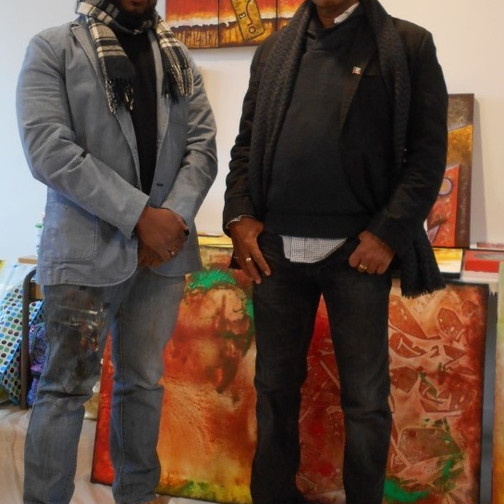 8 with patrick cauvin artist and haitian consul