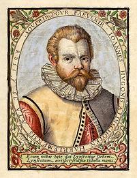 jan-huyghen-van-linschoten-portrait-from-indiae-orientalis-1598-by-E732KB.jpg