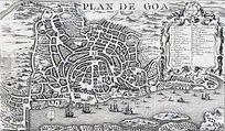 plan-de-goa-plan-of-old-goa-or-velha-goa-portuguese-india-bellin-1750-map-T2KYYH.jpg