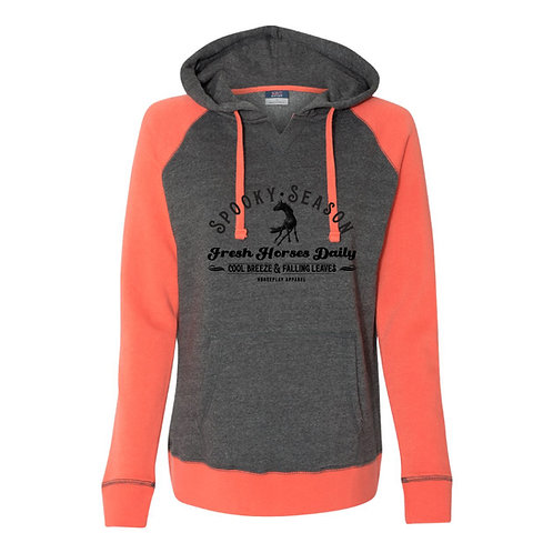 Spooky Season Hoodie: Grey & Orange