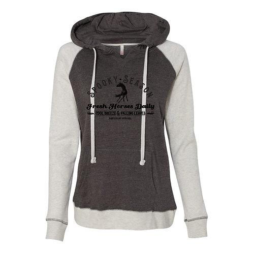 Spooky Season Hoodie: Grey & White