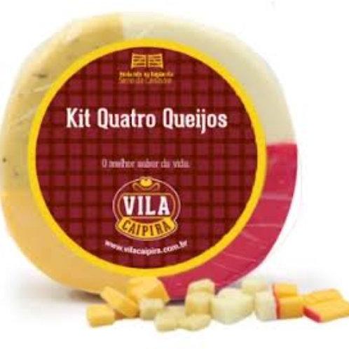 Kit 4 queijos Vila Caipira 600g