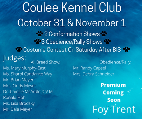 Coulee Kennel Club October 31 & November