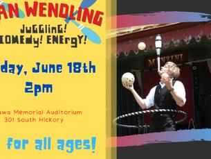 Brian Wendling - Juggler/Comedian Live at OMA