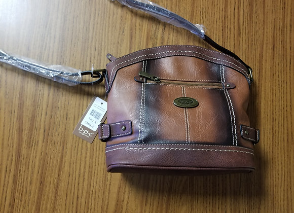 BOC Born Concept Leather Handbag in Saddle/Chocolate