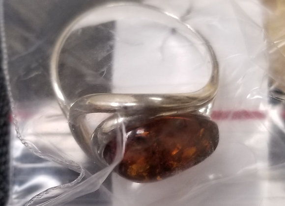Baltic Amber in Sterling Silver Ring