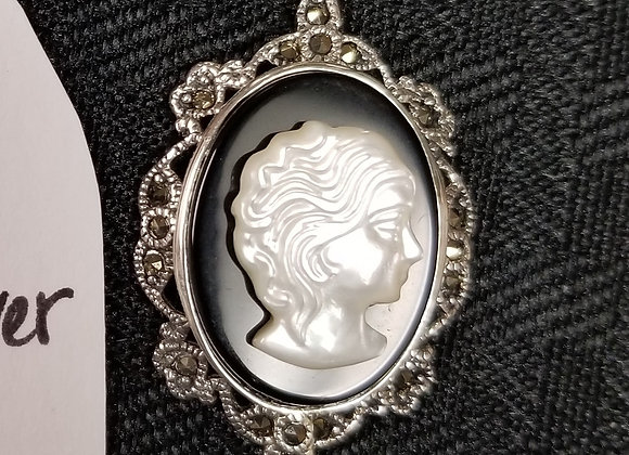 Cameo in Sterling Silver Necklace